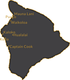 Service Area: West Hawaii from Captain Cook to Mauna Lani