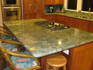 Kona Heavens Modernized Kitchen With Custom Cherry Cabinets, Kitchen Aid Appliances, Vaulted Ceilings