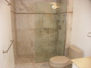 Kona Makai Tile Walk In Shower With Glass Patrician Wall