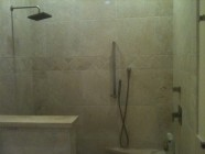 Open Tile Walk In Shower