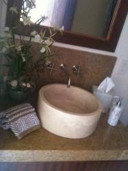 Carved Stone Vessel Sink