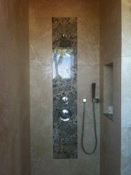 Granite Inlay Into The Tile Shower