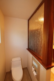 Water Closet Separation Wood And Glass Details