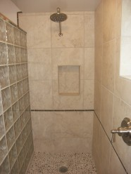 Walk In Shower With Glass Block Wall