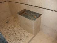 Vista Waikoloa Master Bathroom Renovation With Van Gogh Granite And Pebble Rock Shower Floor
