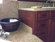 New Cabinets, Counter Tops And Tub Surrounds